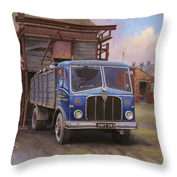Aec Mercury Tipper. Throw Pillow by Mike  Jeffries