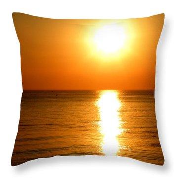Aegean Sunset Throw Pillow