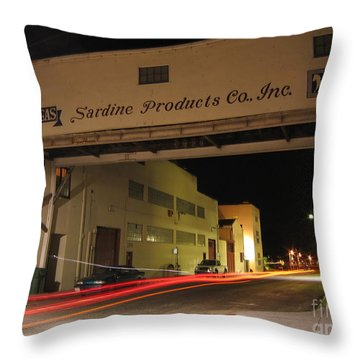 Aeneas Overpass On Cannery Row Throw Pillow