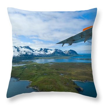 Aerial Alaska Throw Pillow