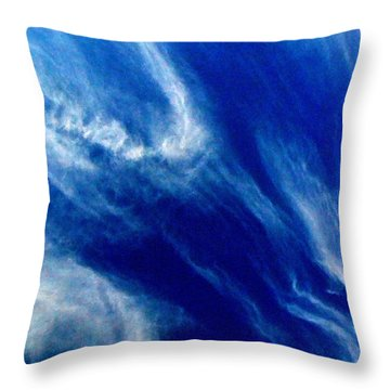 Throw Pillow featuring the photograph Aerial Ocean by Carlee Ojeda