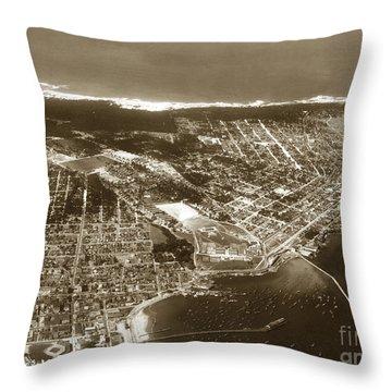 Aerial  Of Monterey Calif. Oct. 25 1934 Throw Pillow