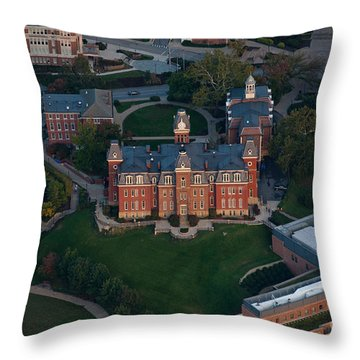 Aerial Of Woodburn Hall Throw Pillow
