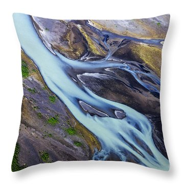 Aerial Photo Of Iceland  Throw Pillow