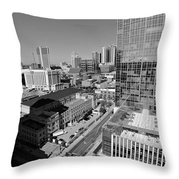 Aerial Photography Downtown Nashville Throw Pillow by Dan Sproul