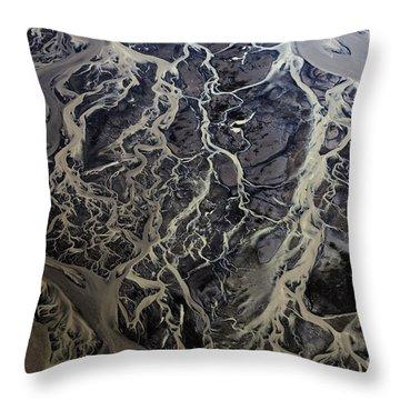 Aerial Photography Throw Pillow by Gunnar Orn Arnason