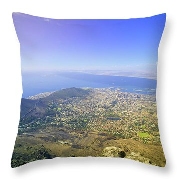 Aerial View From Table Mountain Throw Pillow