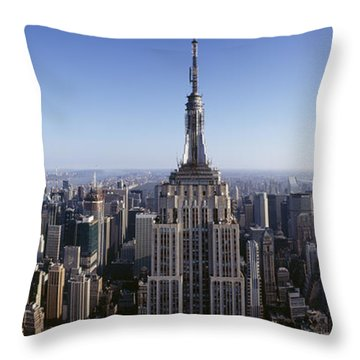 Aerial View Of A Cityscape, Empire Throw Pillow by Panoramic Images