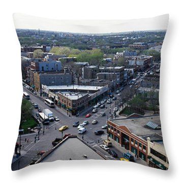Aerial View Of Crossroad Of Six Throw Pillow