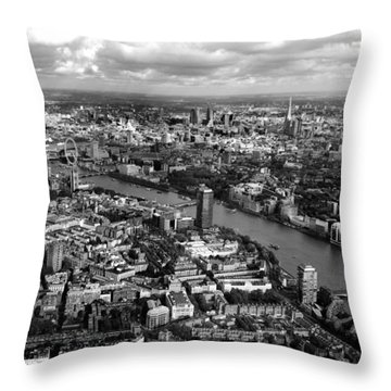 Aerial View Of London Throw Pillow
