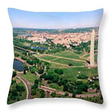 Aerial Washington Dc Usa Throw Pillow