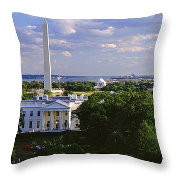 Aerial, White House, Washington Dc Throw Pillow