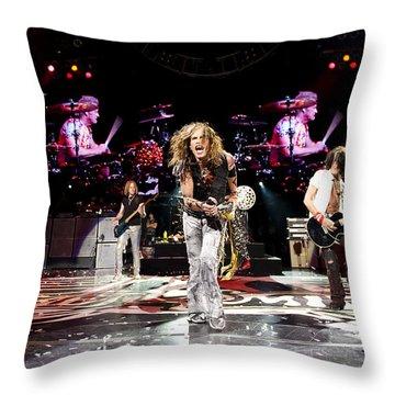 Aerosmith - Austin Texas 2012 Throw Pillow by Epic Rights