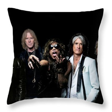 Aerosmith - Global Warming Tour 2012 Throw Pillow by Epic Rights