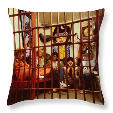 Aerosmith - In A Cage 1980s Throw Pillow by Epic Rights