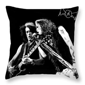 Aerosmith - Joe Perry & Steve Tyler Throw Pillow by Epic Rights