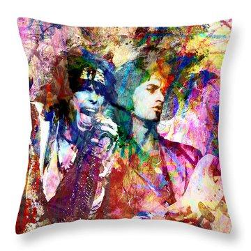 Aerosmith Original Painting Throw Pillow