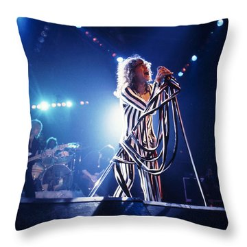 Aerosmith - Pinstripes And Love Bites 1970s Throw Pillow by Epic Rights