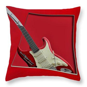 Aerosmith Rockn Roller Guitar Throw Pillow by Thomas Woolworth