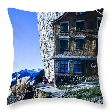 Throw Pillow featuring the photograph Aescher Hotel by Tina Manley