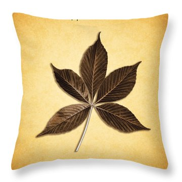 Aesculus Hippocaslanum Throw Pillow by Mark Rogan