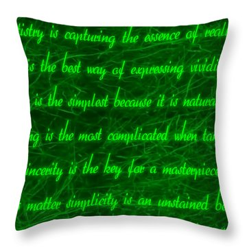 Aesthetic Quote 1 Throw Pillow