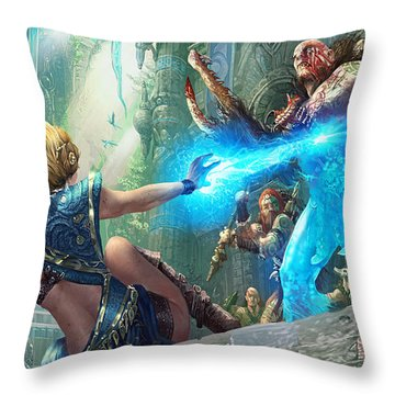 Aetherize Throw Pillow
