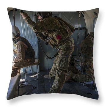 Afghan Air Force Members Throw Pillow
