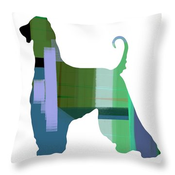 Afghan Hound 1 Throw Pillow by Naxart Studio