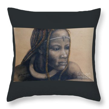 Afican Woman Throw Pillow