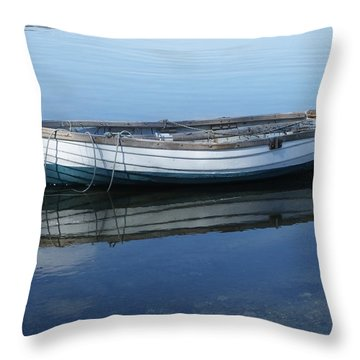 Throw Pillow featuring the photograph Afloat by Mark Alan Perry