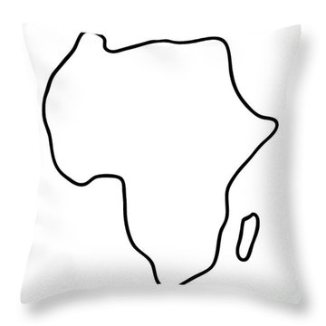 Africa African Continent Map Throw Pillow