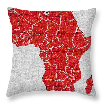 Africa Calling Throw Pillow by Giuseppe Epifani
