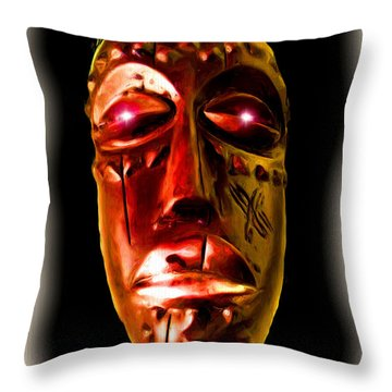 Throw Pillow featuring the digital art Africa by Daniel Janda
