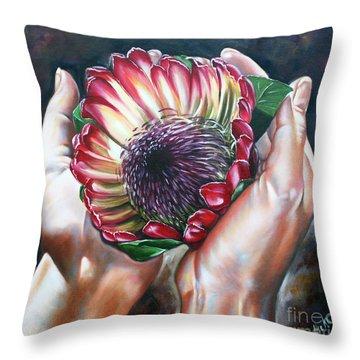 Africa My Sweet Home Throw Pillow by Ilse Kleyn