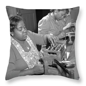 African American War Workers Throw Pillow
