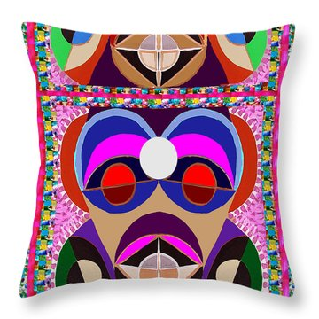 African Art Style Mascot Wizard Magic Comedy Comic Humor  Navinjoshi Rights Managed Images Clawn    Throw Pillow