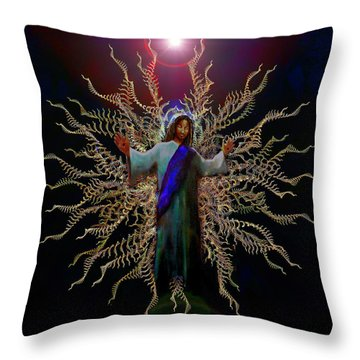 African Ascension Throw Pillow by Michael Durst