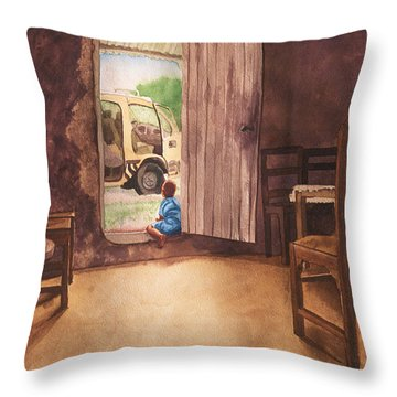 African Child's Dream Throw Pillow