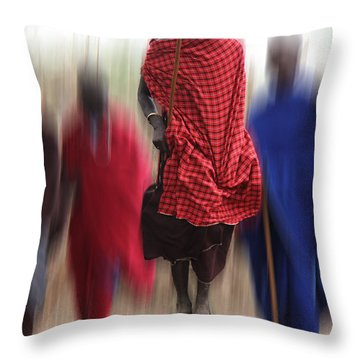 Throw Pillow featuring the photograph African Dance by Christine Sponchia
