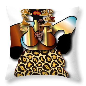 Throw Pillow featuring the digital art African Dancer 2 by Marvin Blaine