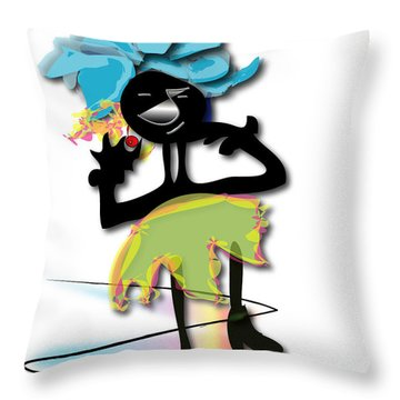 Throw Pillow featuring the digital art African Dancer 3 by Marvin Blaine