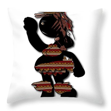 Throw Pillow featuring the digital art African Dancer 7 by Marvin Blaine