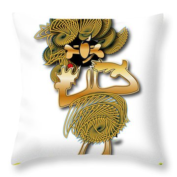Throw Pillow featuring the digital art African Dancer With Bone by Marvin Blaine