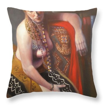 Throw Pillow featuring the painting African Drum #2 by Donelli  DiMaria