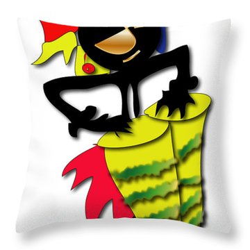 Throw Pillow featuring the digital art African Drummer by Marvin Blaine
