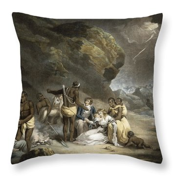 African Hospitality, Engraved By John Raphael Smith, 1791 Mezzotint Throw Pillow