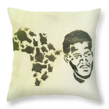 African Icon Throw Pillow by Neil Overy
