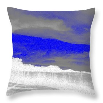African Landscape Throw Pillow by George Pedro