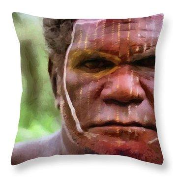 African Man Throw Pillow